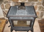Top of Hearthside Soapstone stove.