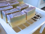essential oil blend soap cure on the rack