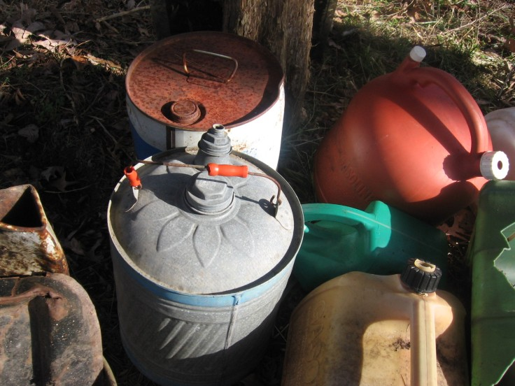 """""""old gas cans'"""