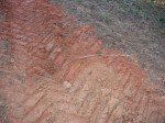 """tire tracks around farm house"""