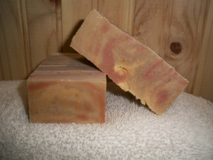 """Patchouli and sandalwood goats milk soap"""