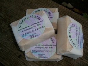 """dead sea salt soap with goats milk"""