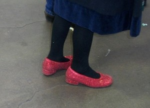 """dorothys red shoes"""