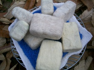 """felted soap"""