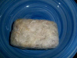 """first bar of felted soap"""